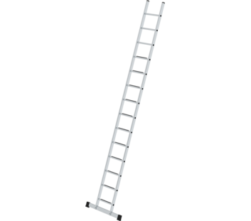 Profiausf/ührung mit nivello/®-Traverse Anlegeleiter mit Sprossen 20 Sprossen