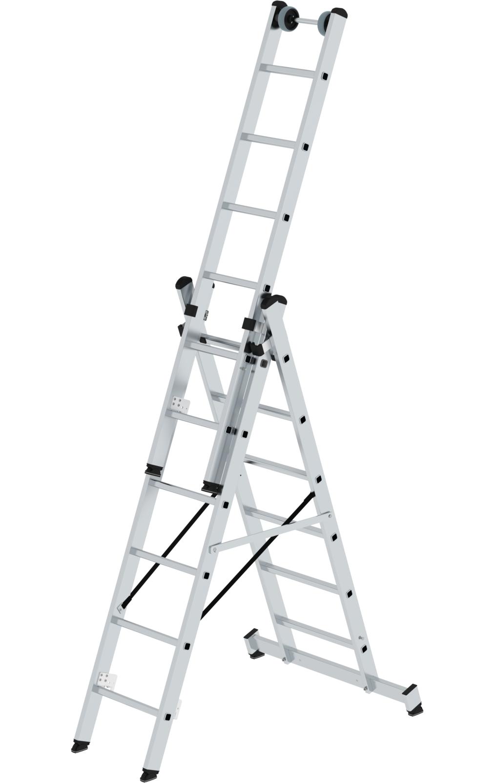 Tragbare Leiter aus Stahl 3-stufig Garage robust K/üche ideal f/ür Zuhause