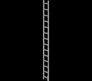 Günzburger Schachtleiter Stahl verzinkt 300mm breit 10 Sprossen 2,80m lang
